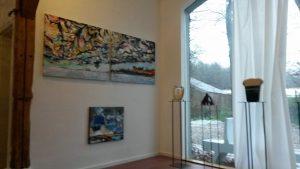 impressie van de expositie HOME-LAND  bij het bouwhuis te Lettele